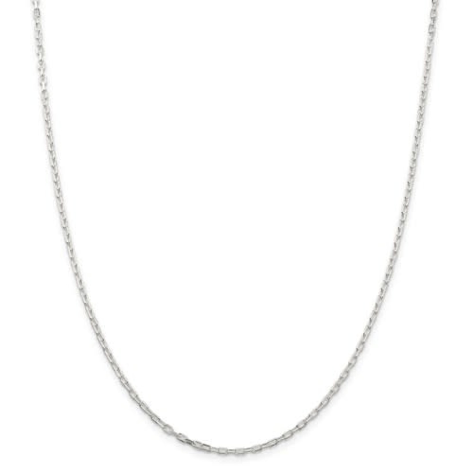 This Is Life Sterling Silver 2.2mm Fancy Diamond-Cut Open Link Cable 16 Inch Chain