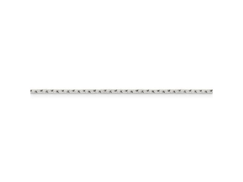This Is Life Sterling Silver 1.65mm 8 Sided Diamond Cut Cable 18 Inch Chain