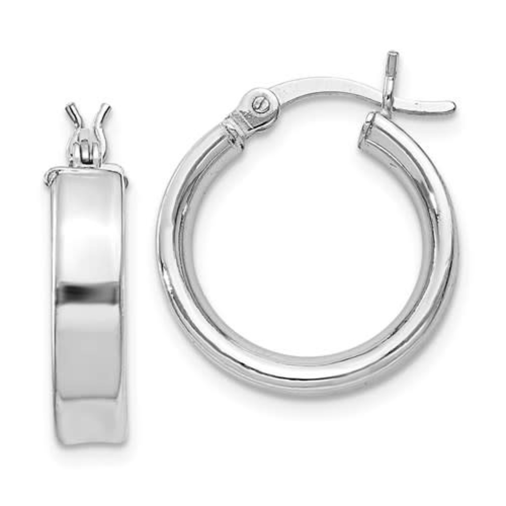 This Is Life My Go To Sterling Silver Hoop Earrings