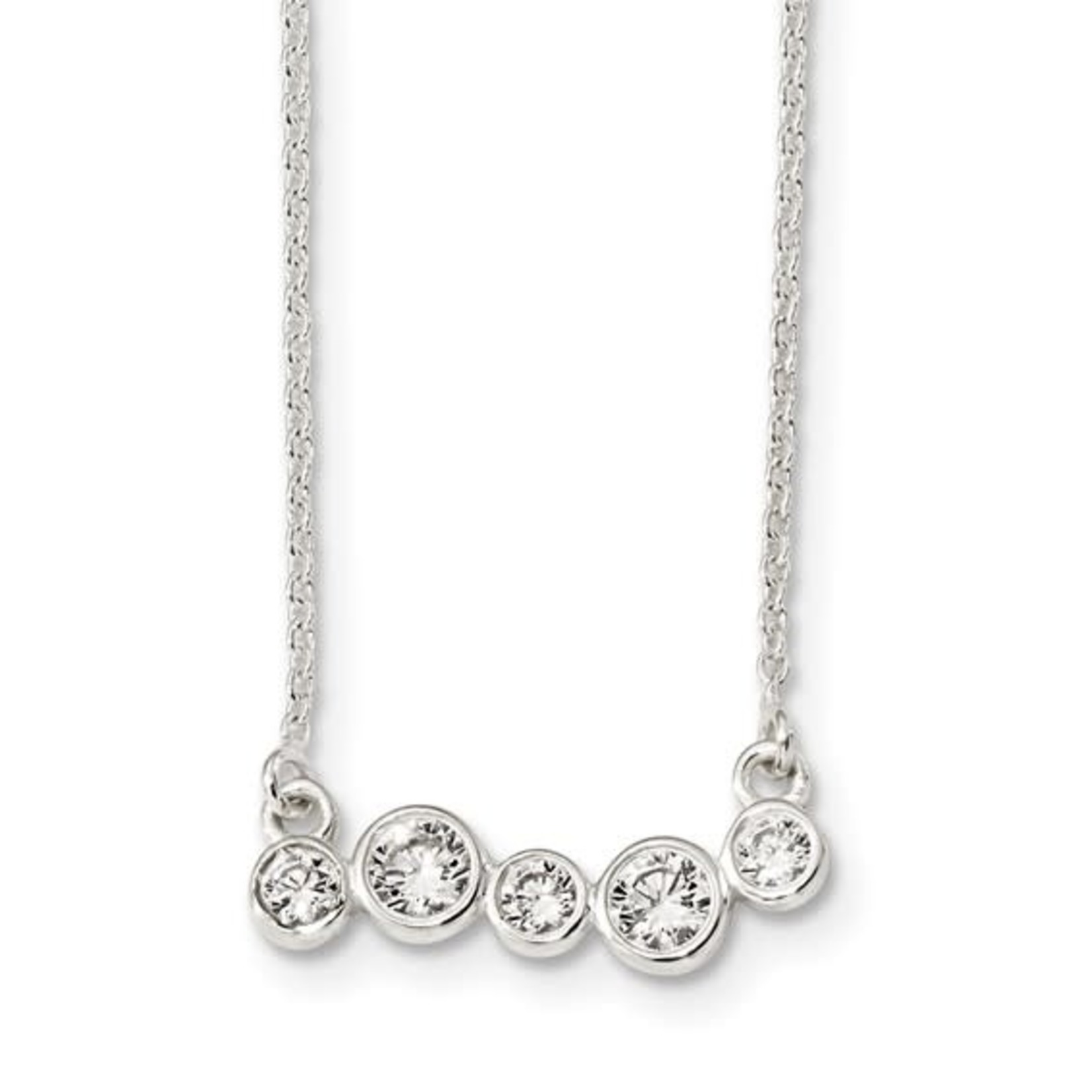 """This Is Life Life Is Messy Sterling Silver Necklace - 16"""""""