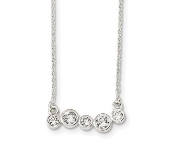 """Life Is Messy Sterling Silver Necklace - 16"""""""