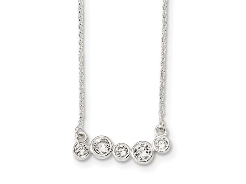 This Is Life Life Is Messy Sterling Silver Necklace - 16""