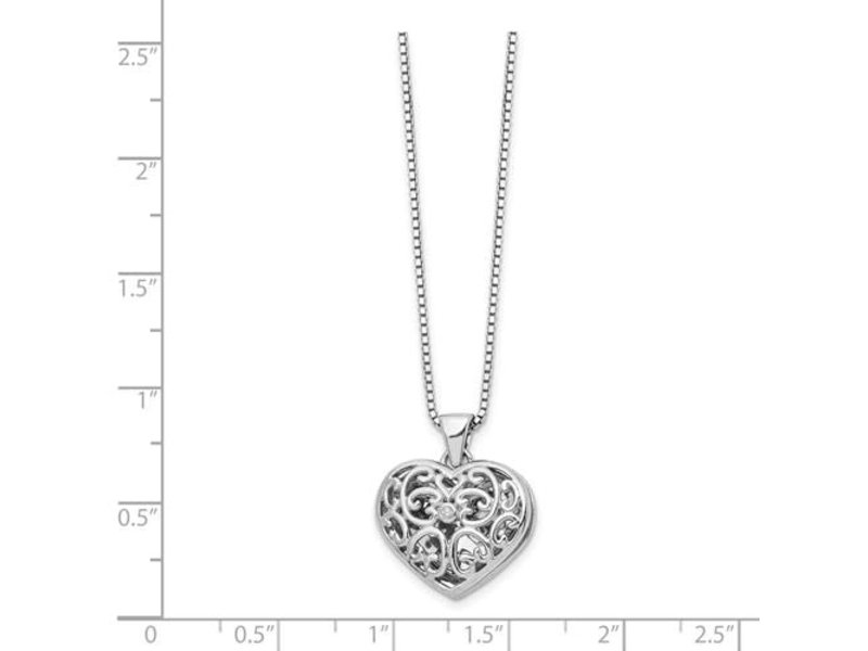 This Is Life Windows Of My Heart Locket With Diamond - Sterling Silver