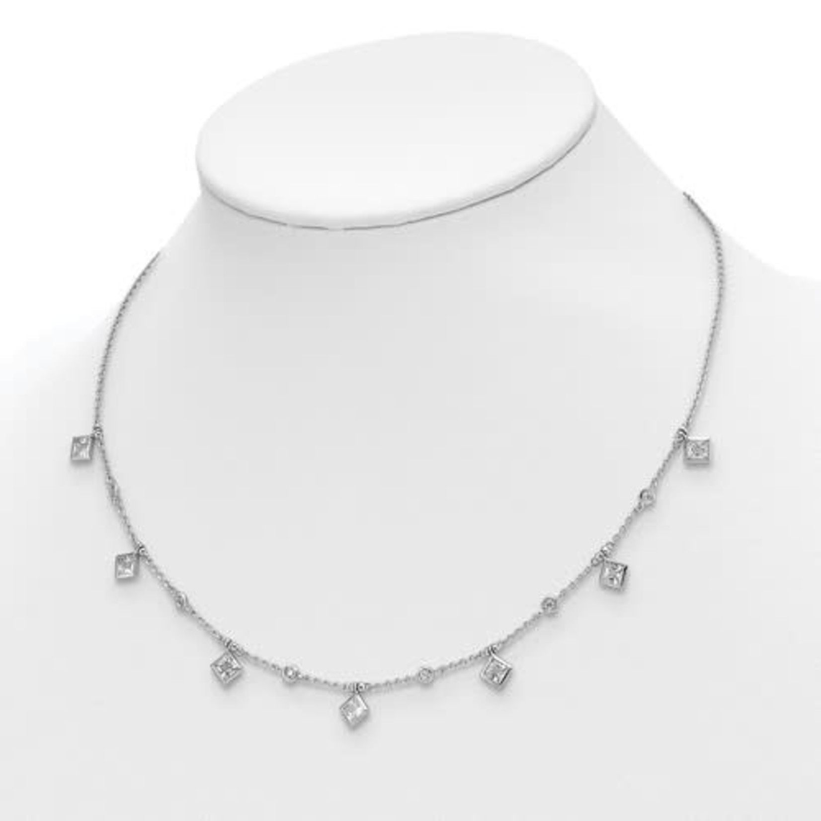 """This Is Life Hang The Flowers Sterling Silver Necklace - 16"""""""