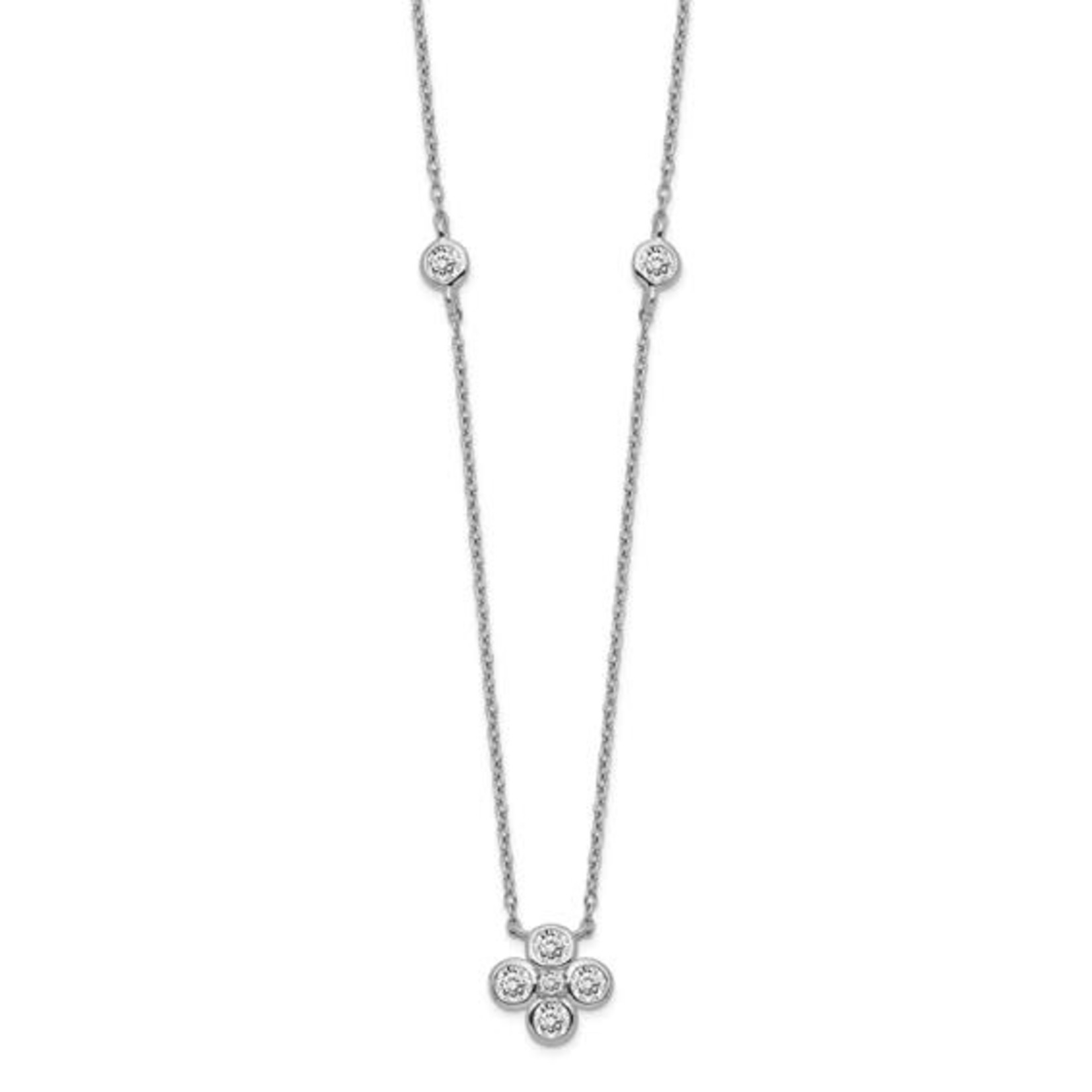 This Is Life Lucky Sterling Silver Necklace With CZs