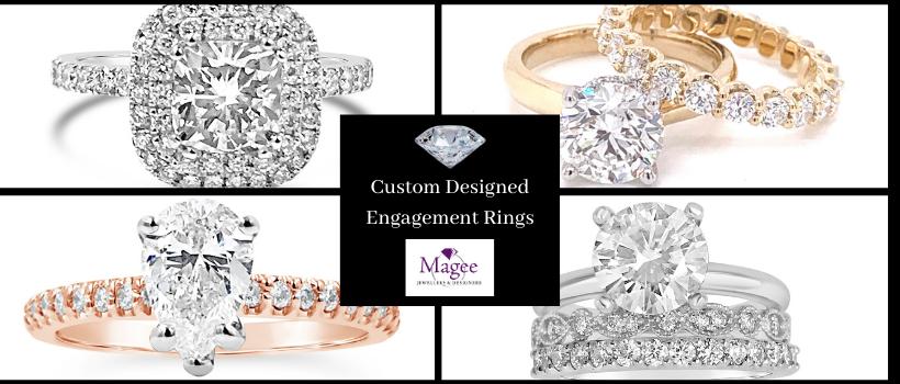 Custom designed Engagement Rings