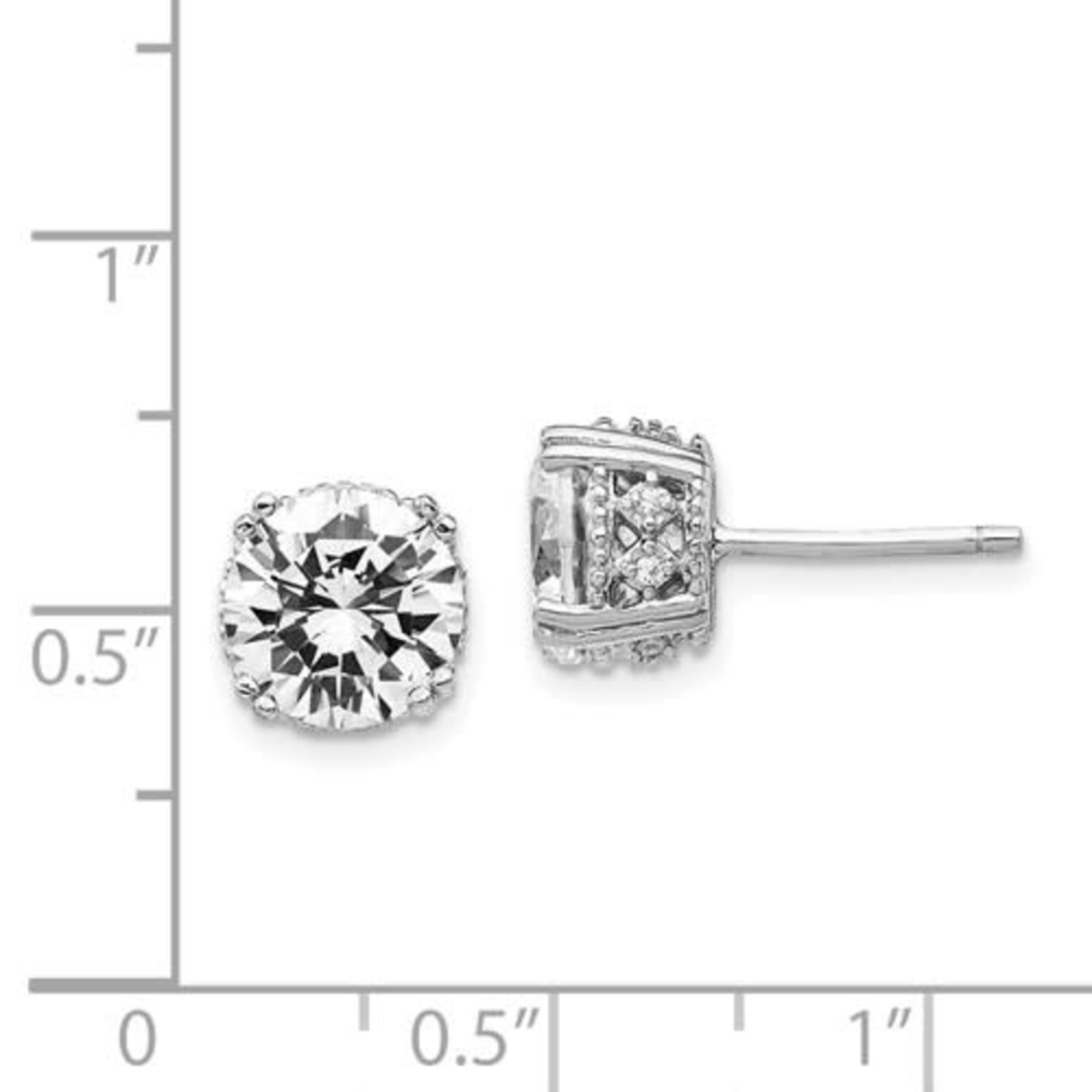 This Is Life Crown Jewels Sterling Silver Cz Earrings