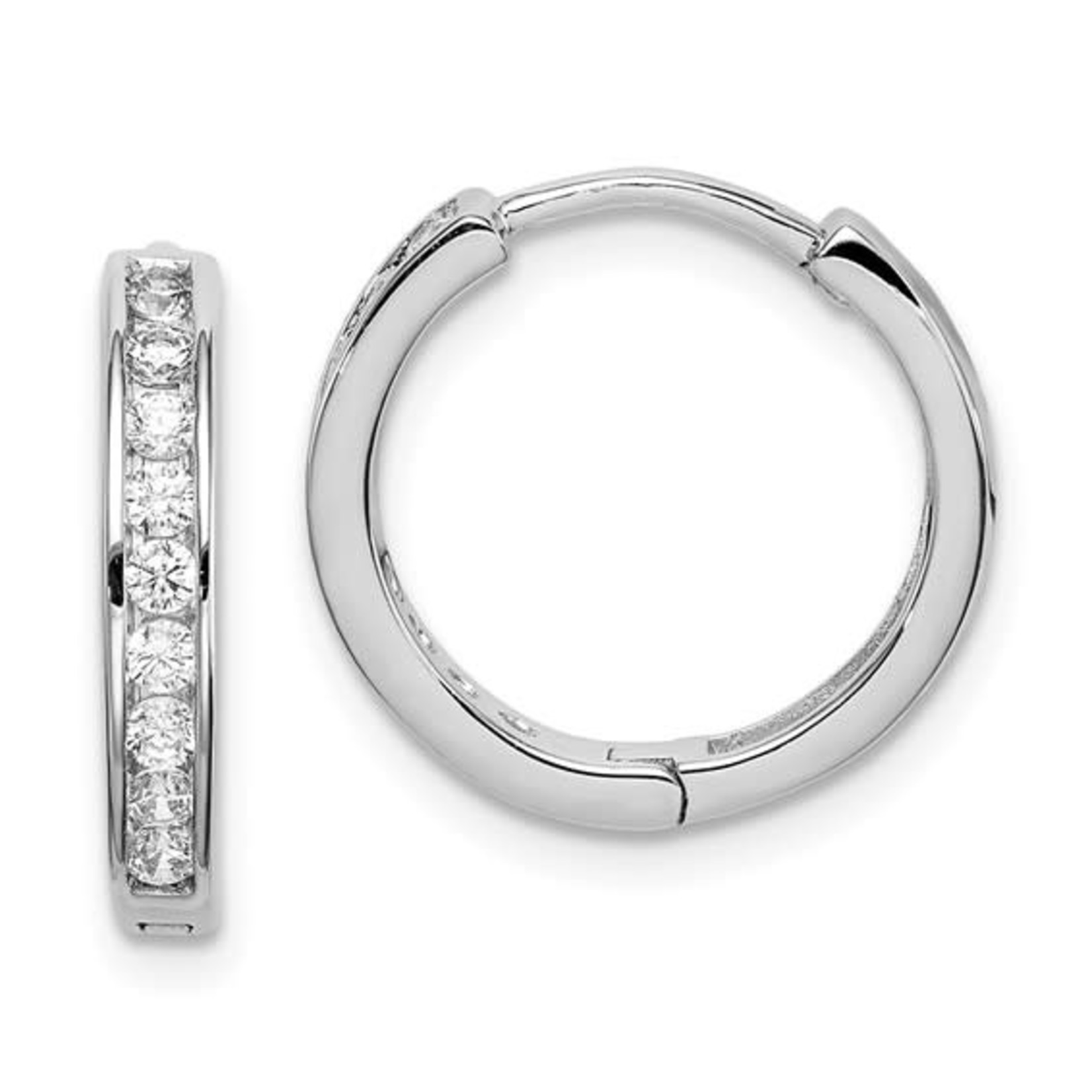 This Is Life Line Up The Cz's Sterling Silver Hoop Earrings