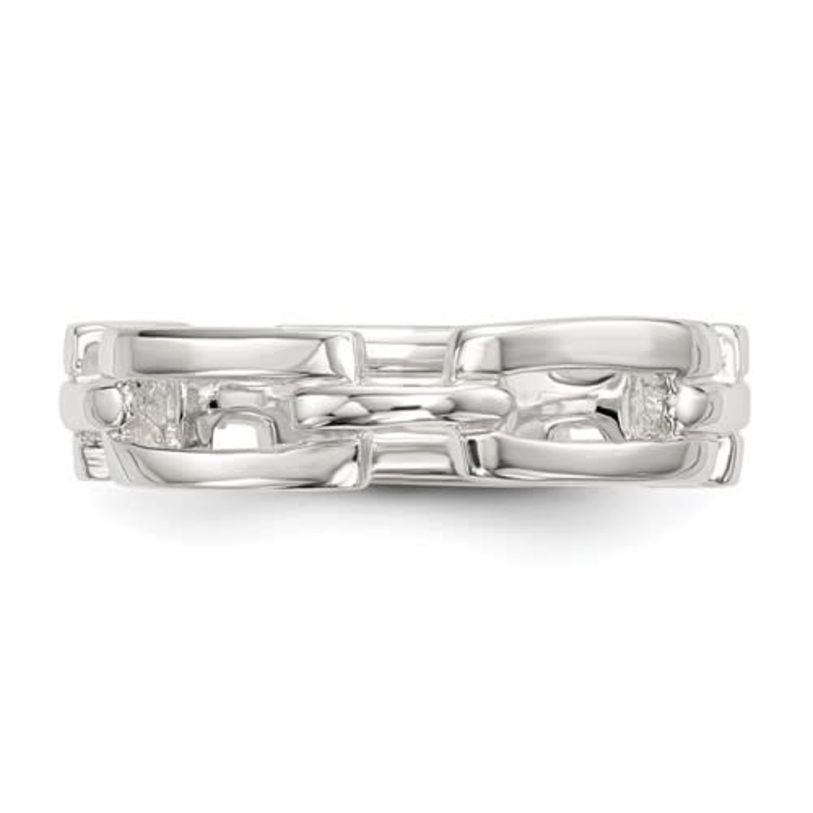 This Is Life Ruff & Tuff Link Ring - Sterling Silver