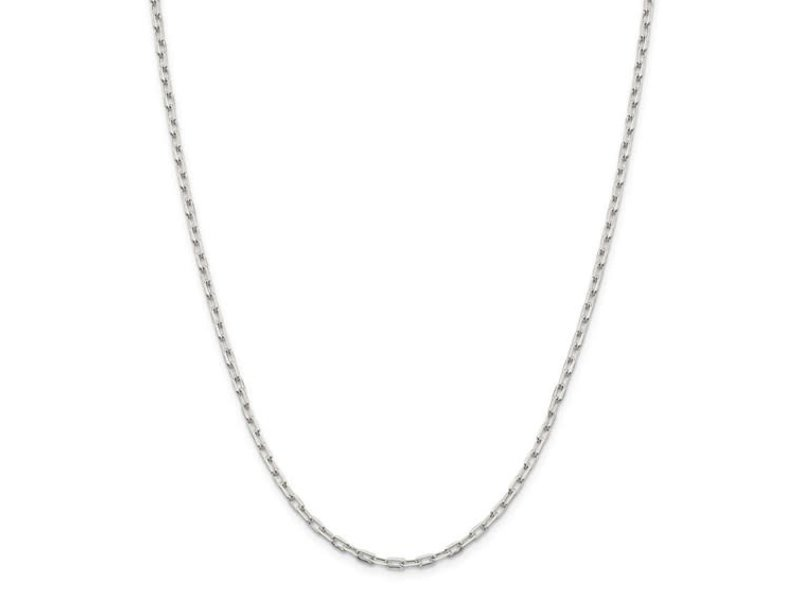 "This Is Life Mini Paper Link Sterling Silver 30"" Chain"