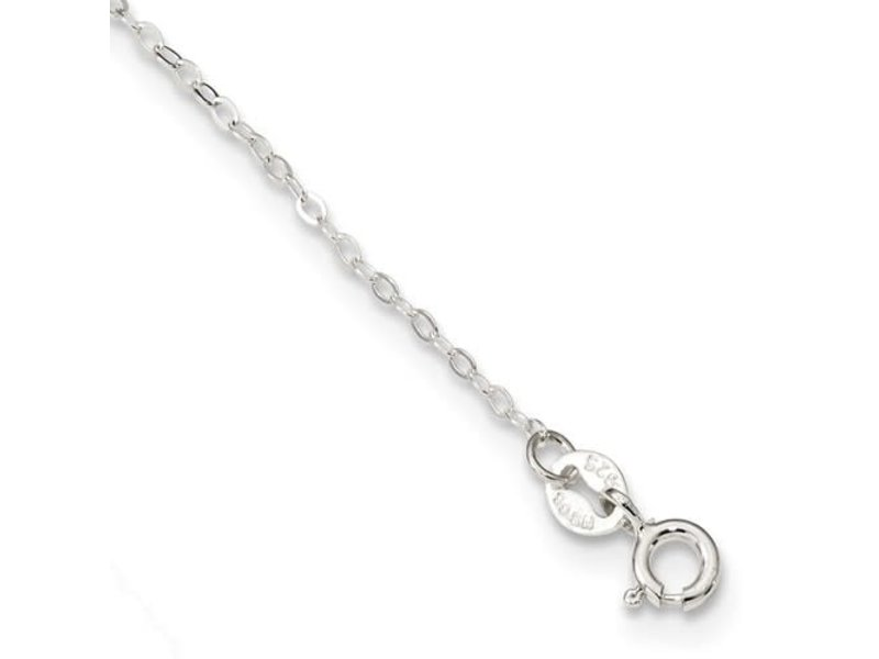 "This Is Life Sterling Silver CZ 5 Station 17"" Necklace"