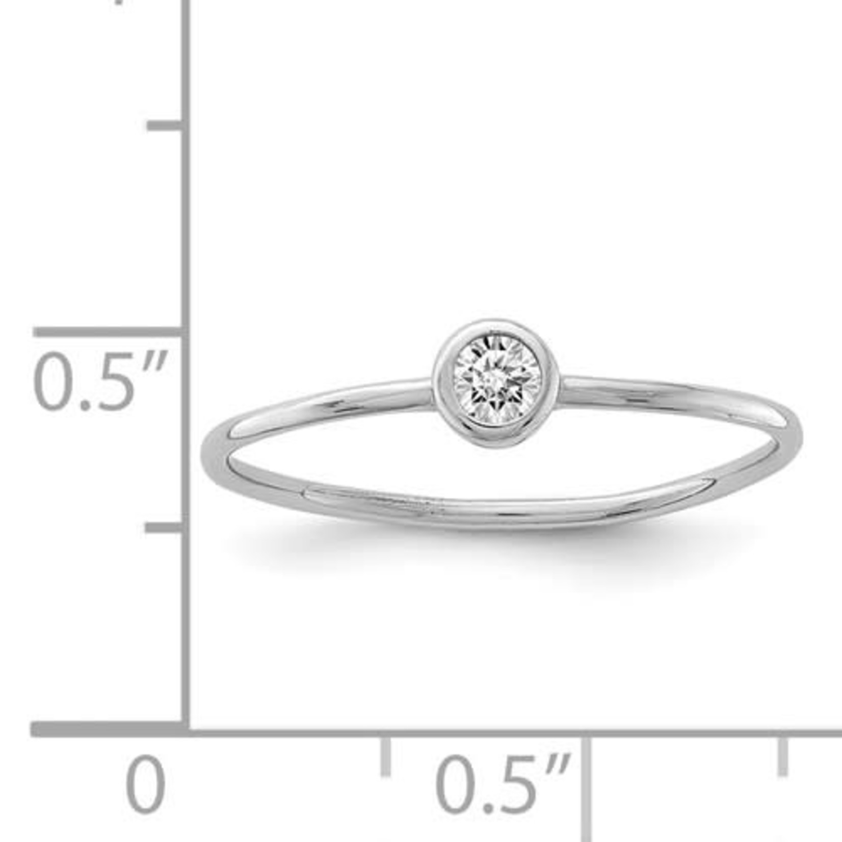 This Is Life A Little Bling Stackable Band - Sterling Silver