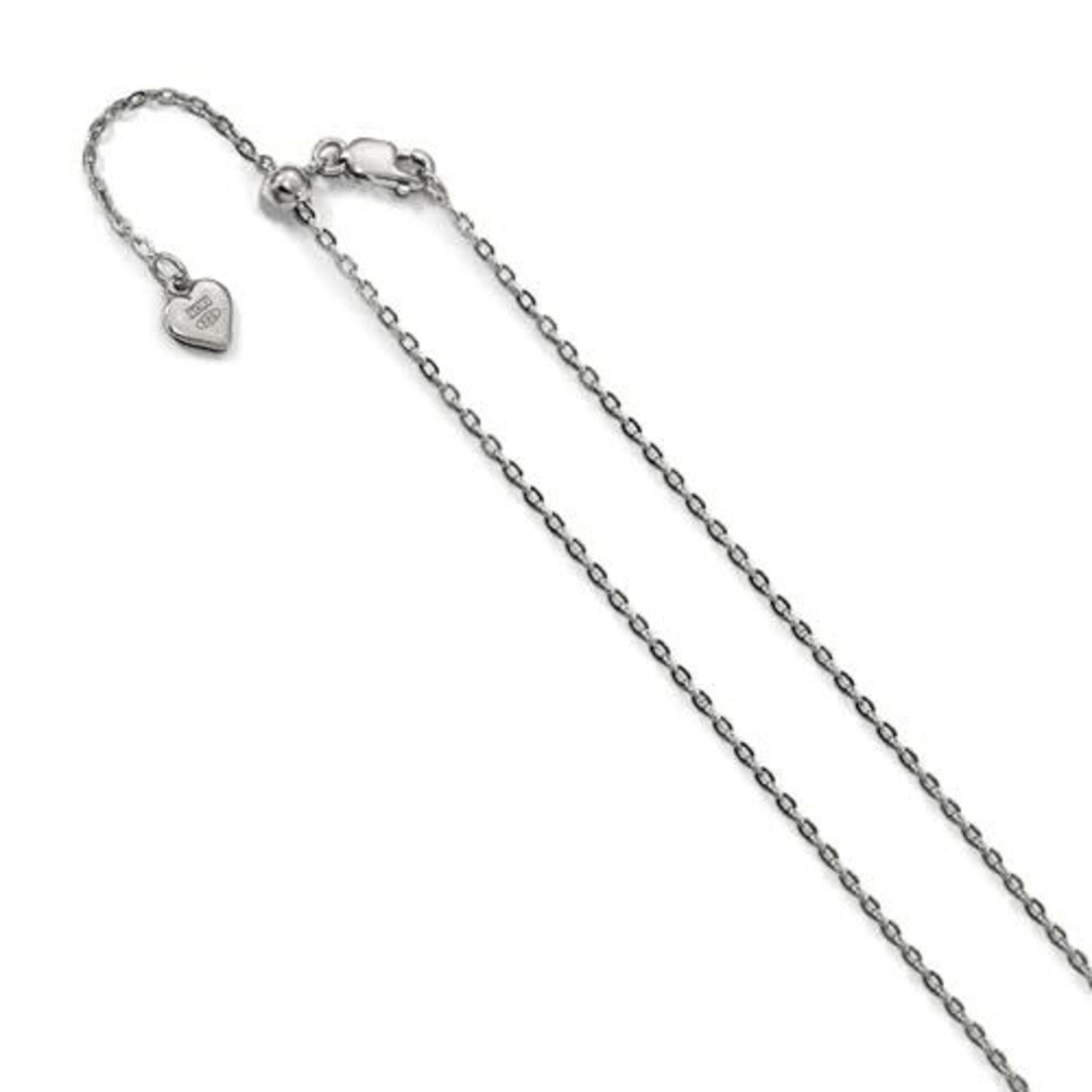 This Is Life Adjustable Cable Chain - Sterling Silver