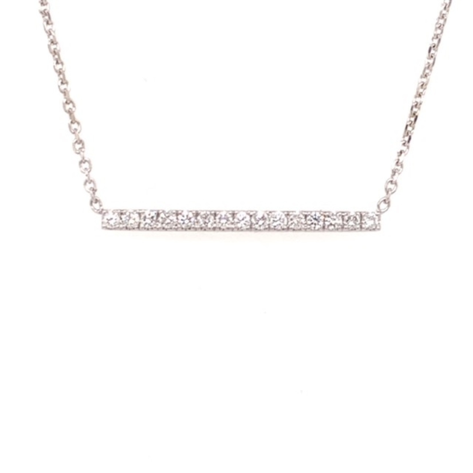 On The Edge Unequivocal Strength Necklace - 10kt/14kt Diamond Pendant