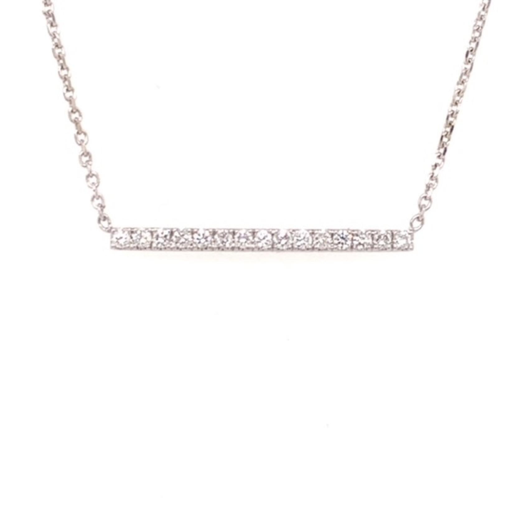 On The Edge Unequivocal Strength Necklace - 14kt Diamond Pendant