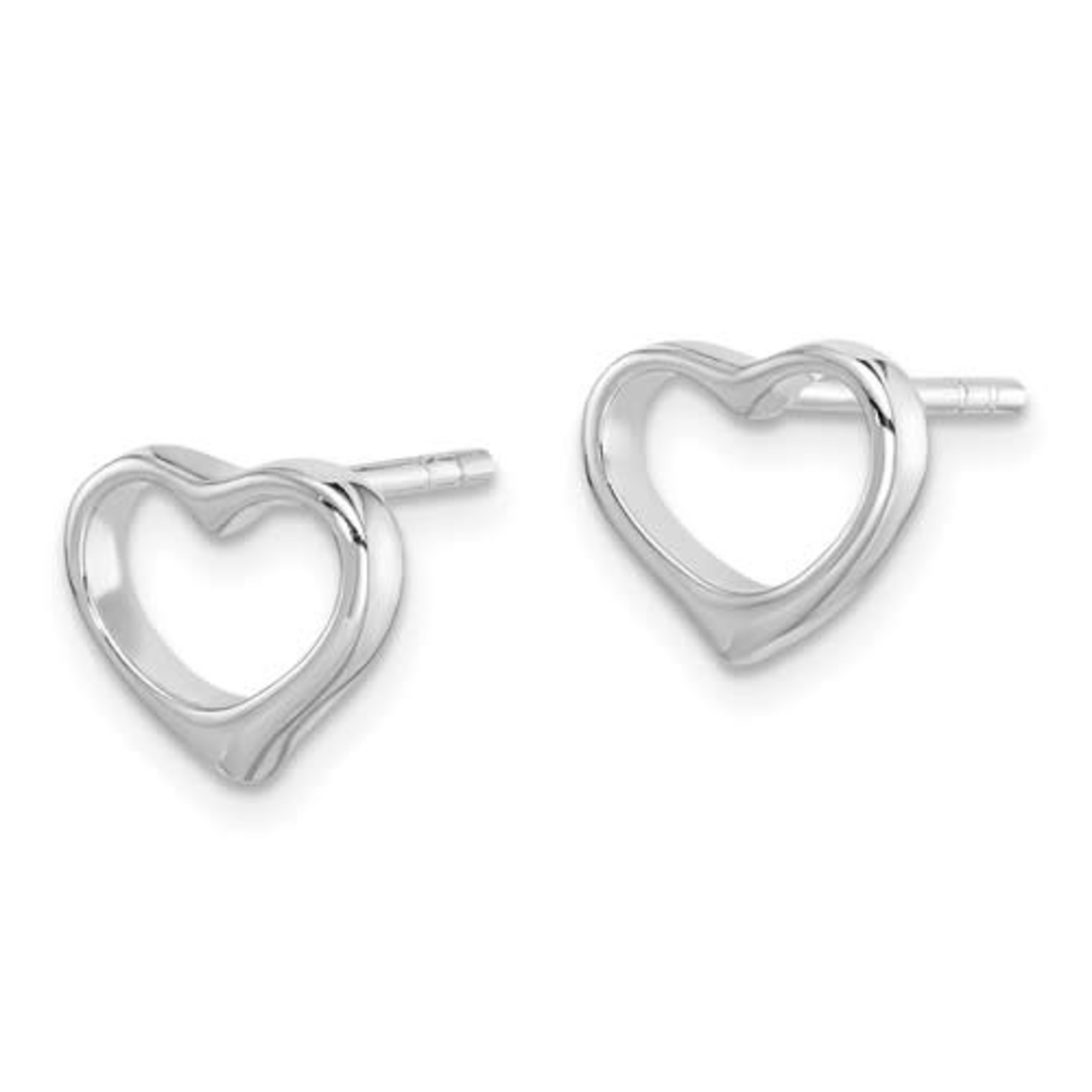 This Is Life Open Heart Sterling Silver Earrings