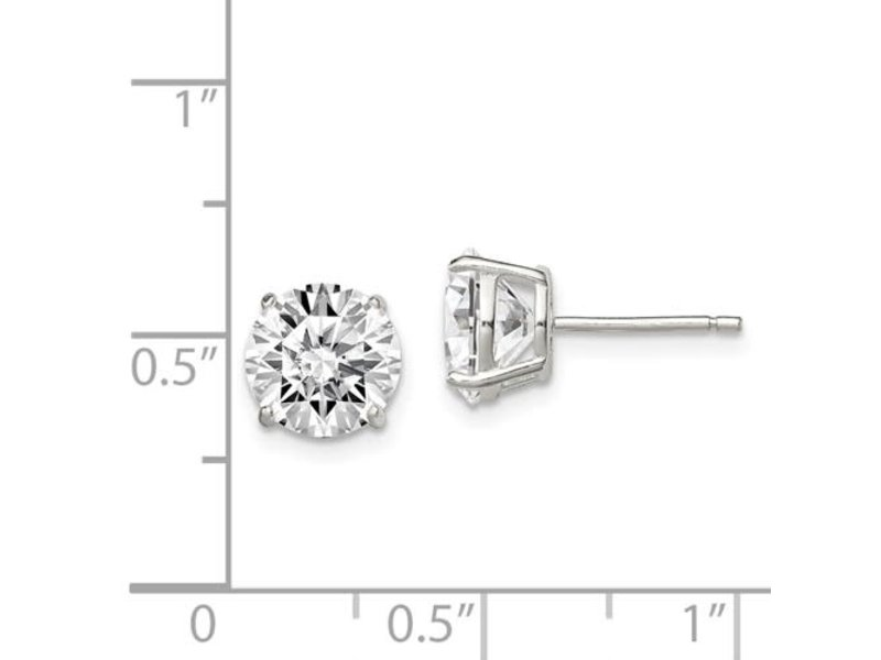 This Is Life Gorgeous 8mm Round Sterling Silver Stud Earrings