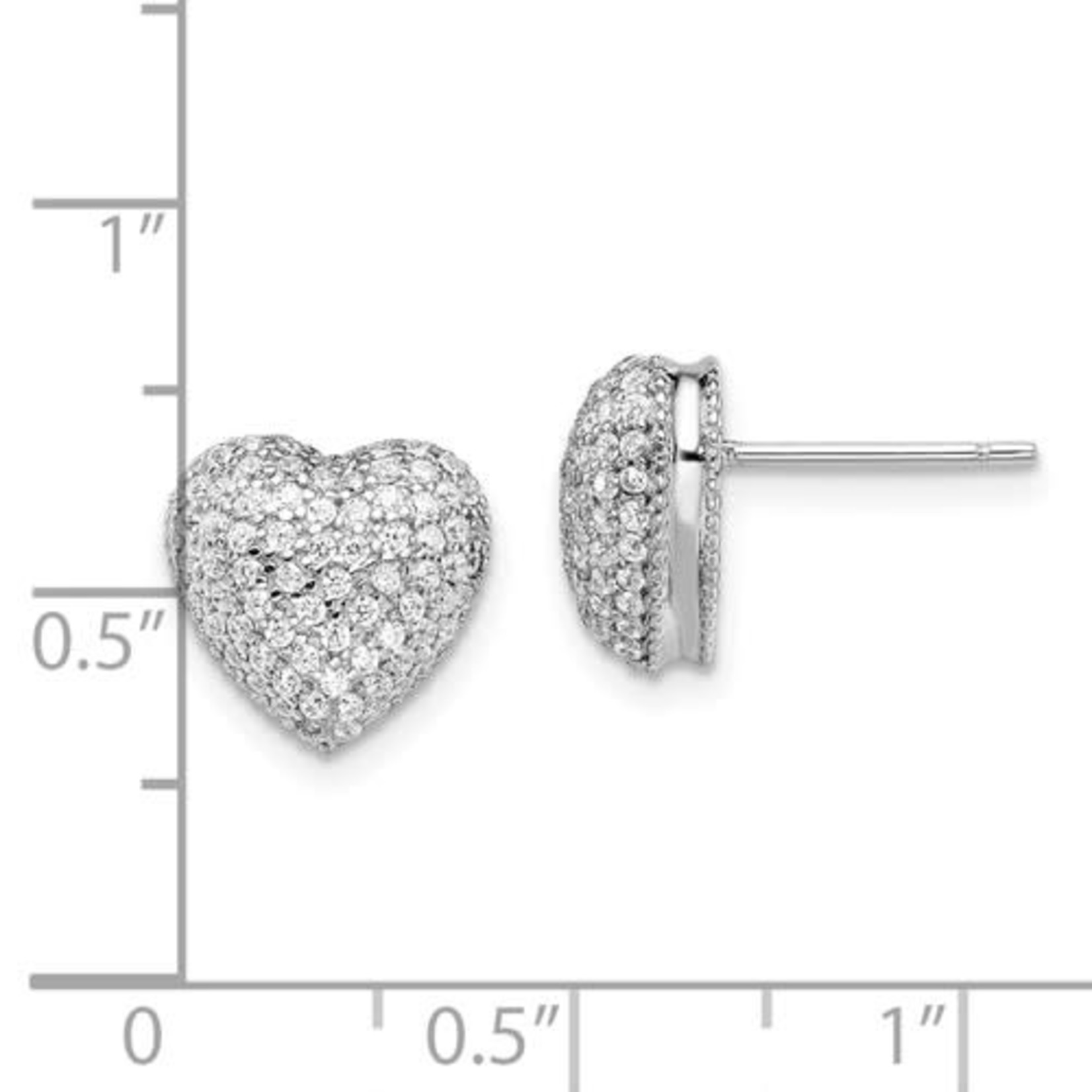 This Is Life Glitz My Heart Sterling Silver Earrings