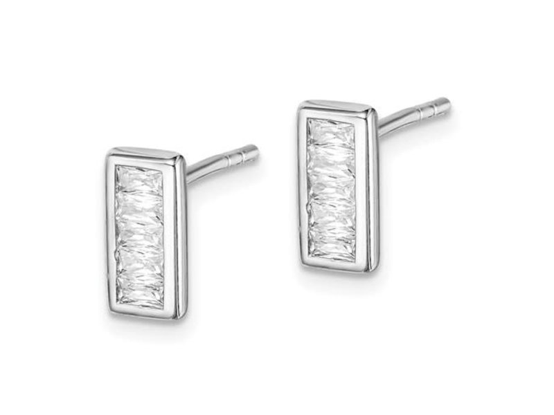 This Is Life The Perfect Touch Sterling Silver Cz Earrings