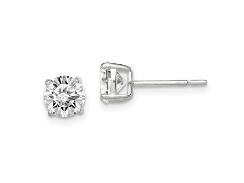 This Is Life The Perfect CZ Stud - Sterling Silver