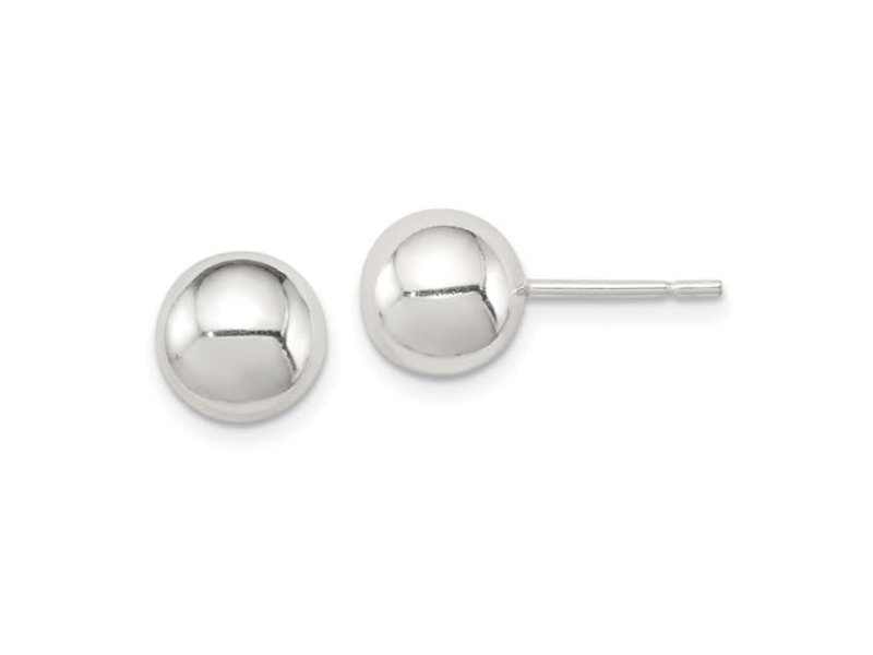 This Is Life Classic 8mm Ball Sterling Silver Earrings