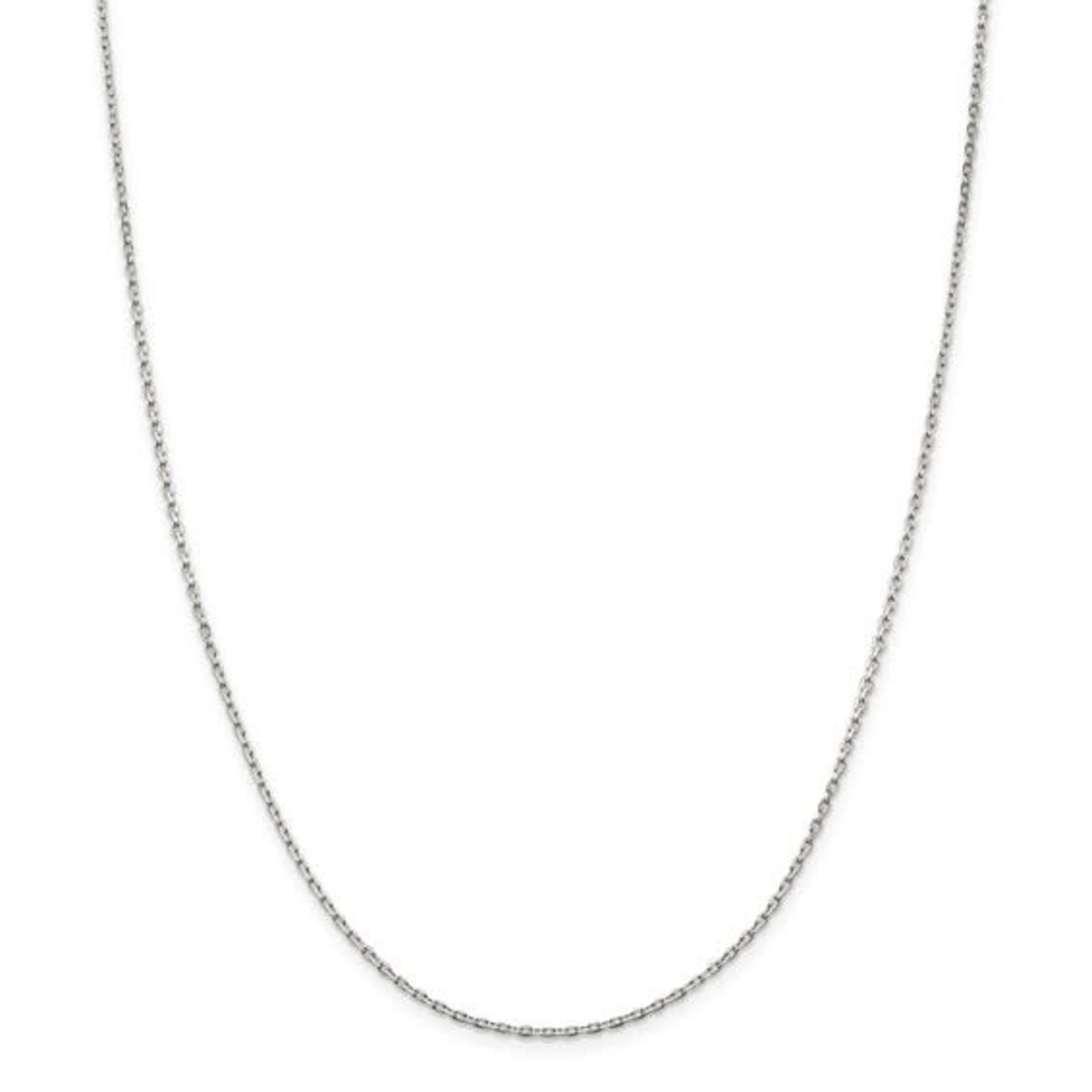 """This Is Life Beveled Oval Cable Chain - Sterling Silver 18"""""""