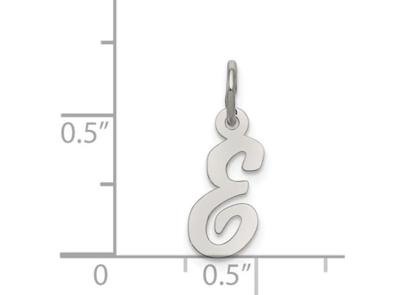 This Is Life Small Script Initial Charm - Sterling Silver
