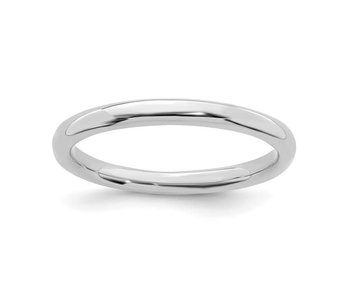 Classic Polished Sterling Silver Stackable Ring