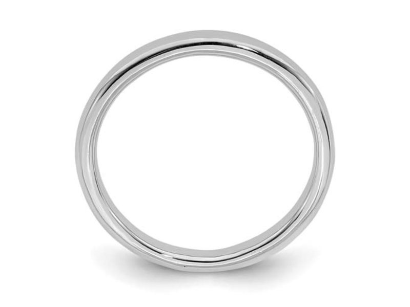 This Is Life Classic Polished Sterling Silver Stackable Ring