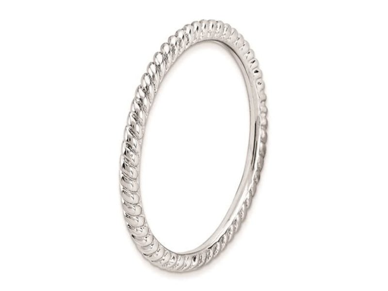 This Is Life Classic Narrow Twist Sterling Silver Stackable Ring