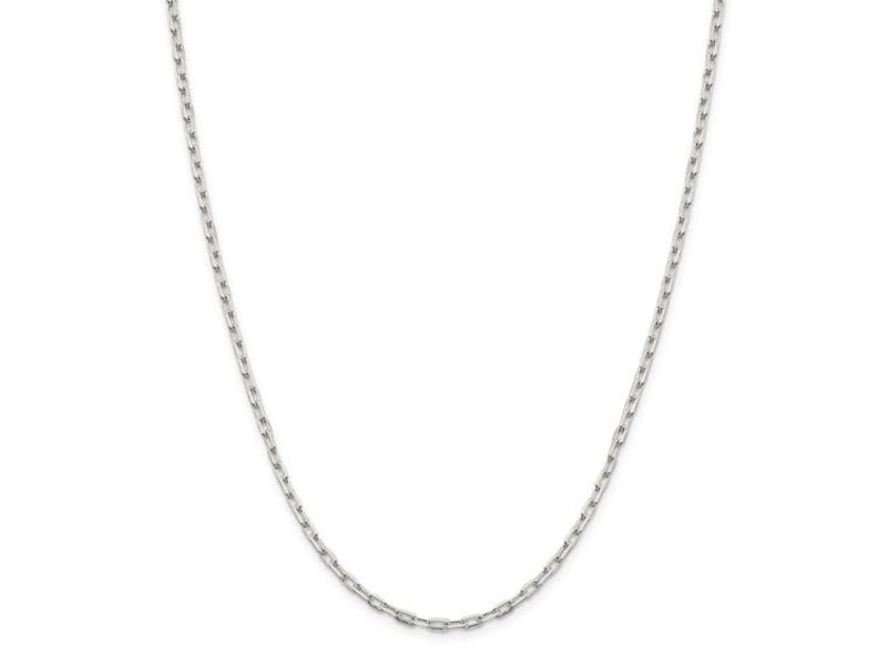 "This Is Life Mini Paper Link Sterling Silver 18""  Chain"