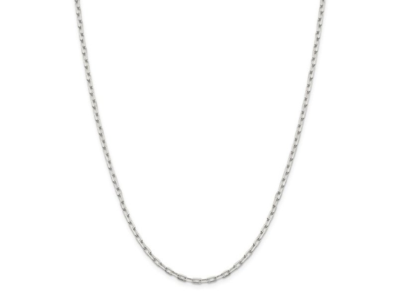 """This Is Life Mini Paper Link Sterling Silver 20""""  Chain"""