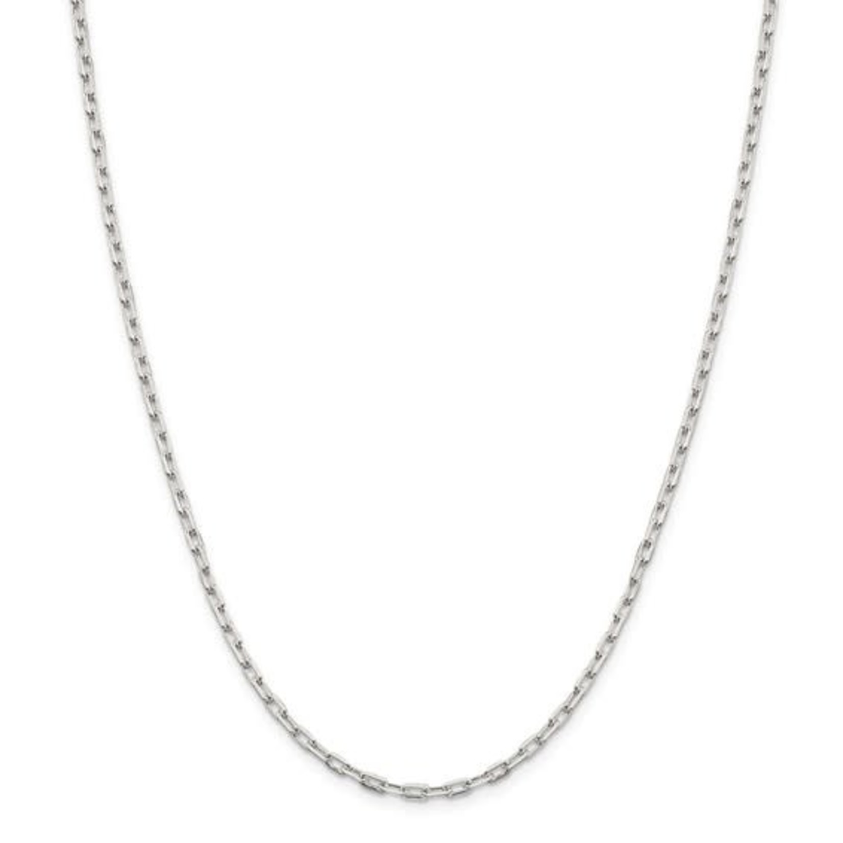 """This Is Life Mini Paper Link Sterling Silver 22""""  Chain"""
