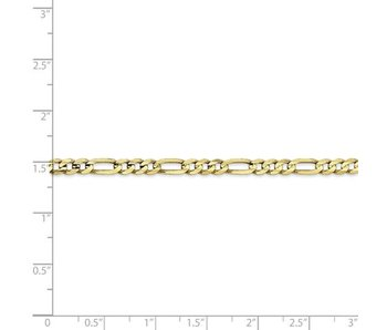 """Light Concave Figaro 10 kty Chain - 20"""""""