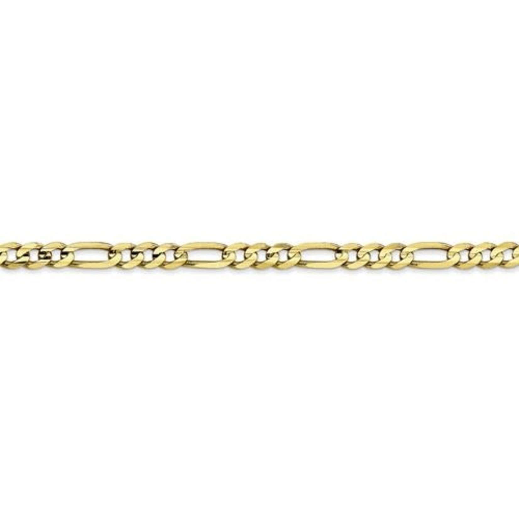 """This Is Life Light Concave Figaro 10 kty Chain - 20"""""""