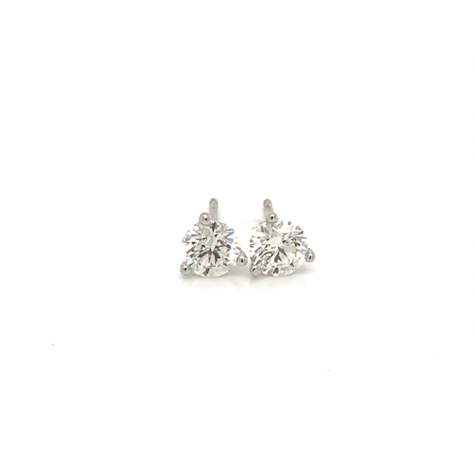 On The Edge Lab Diamond Earrings - 1.03 ctw