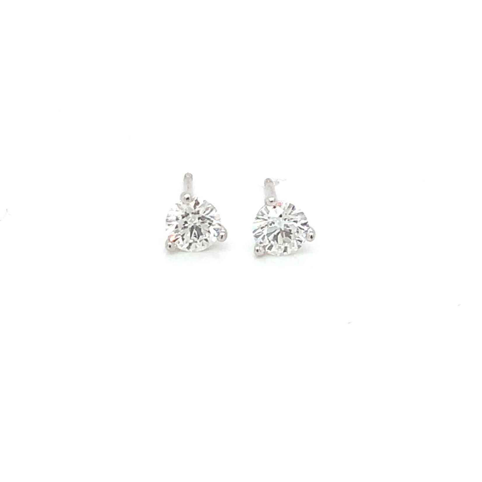 On The Edge Lab Diamond Earrings - 0.61 ctw
