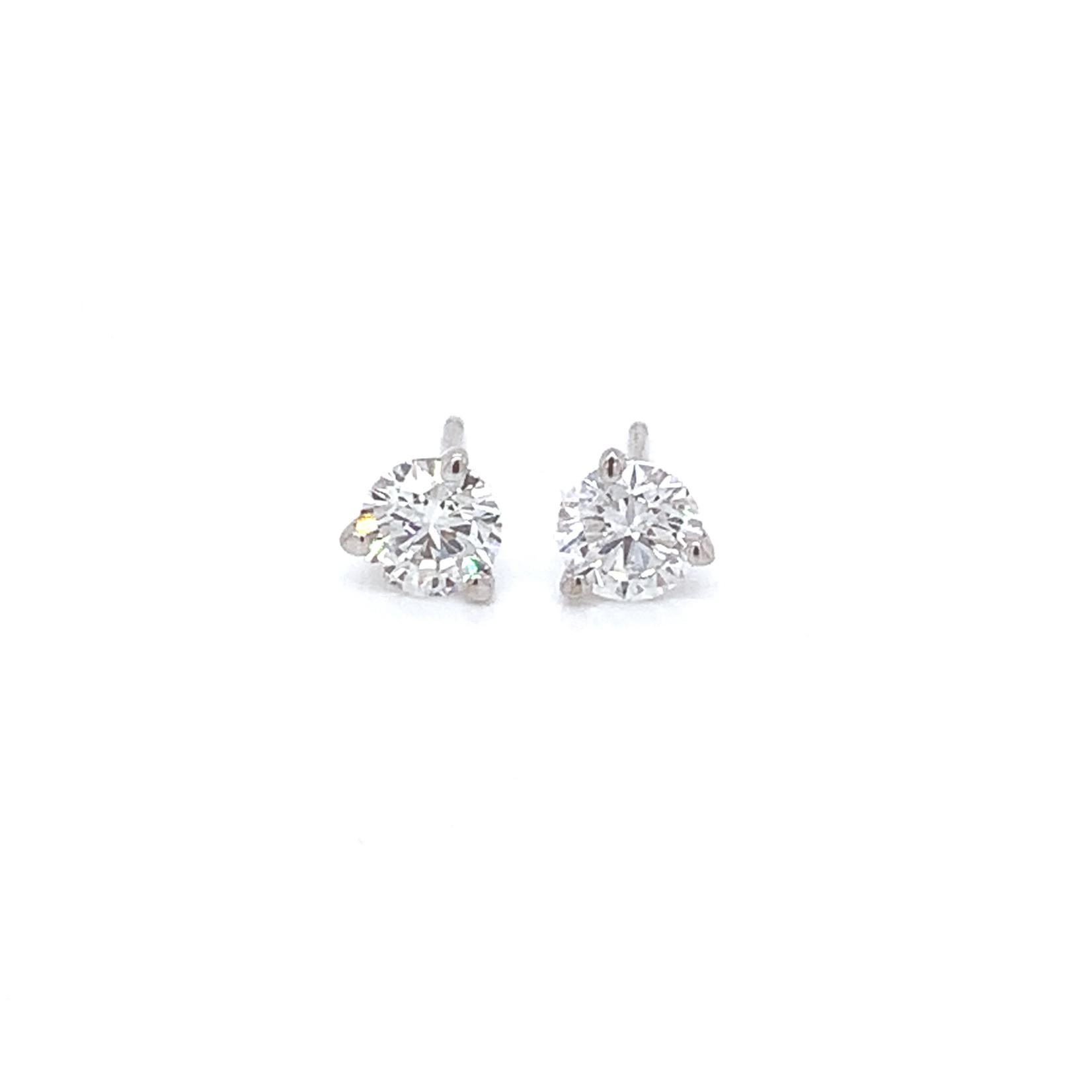 On The Edge Lab Diamond Earrings - 1.00 ctw