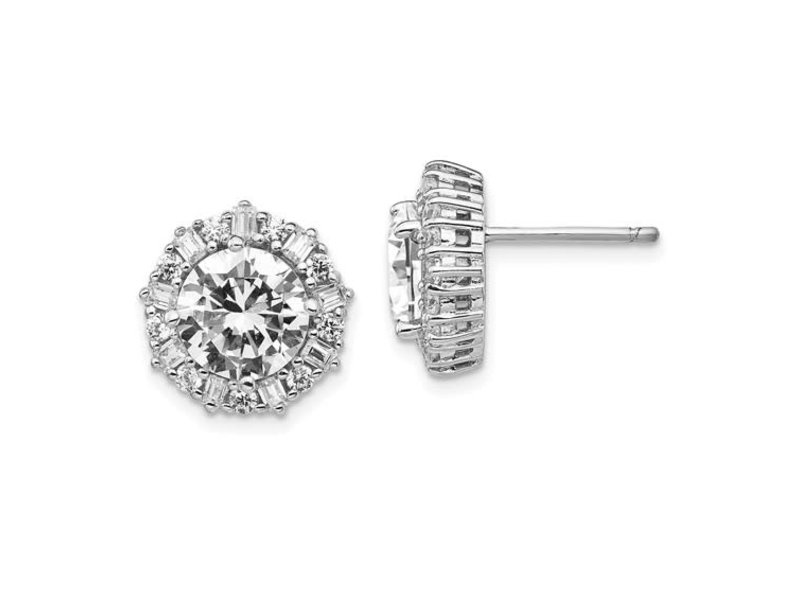 This Is Life Dazzling Beauties CZ Sterling Silver Earrings