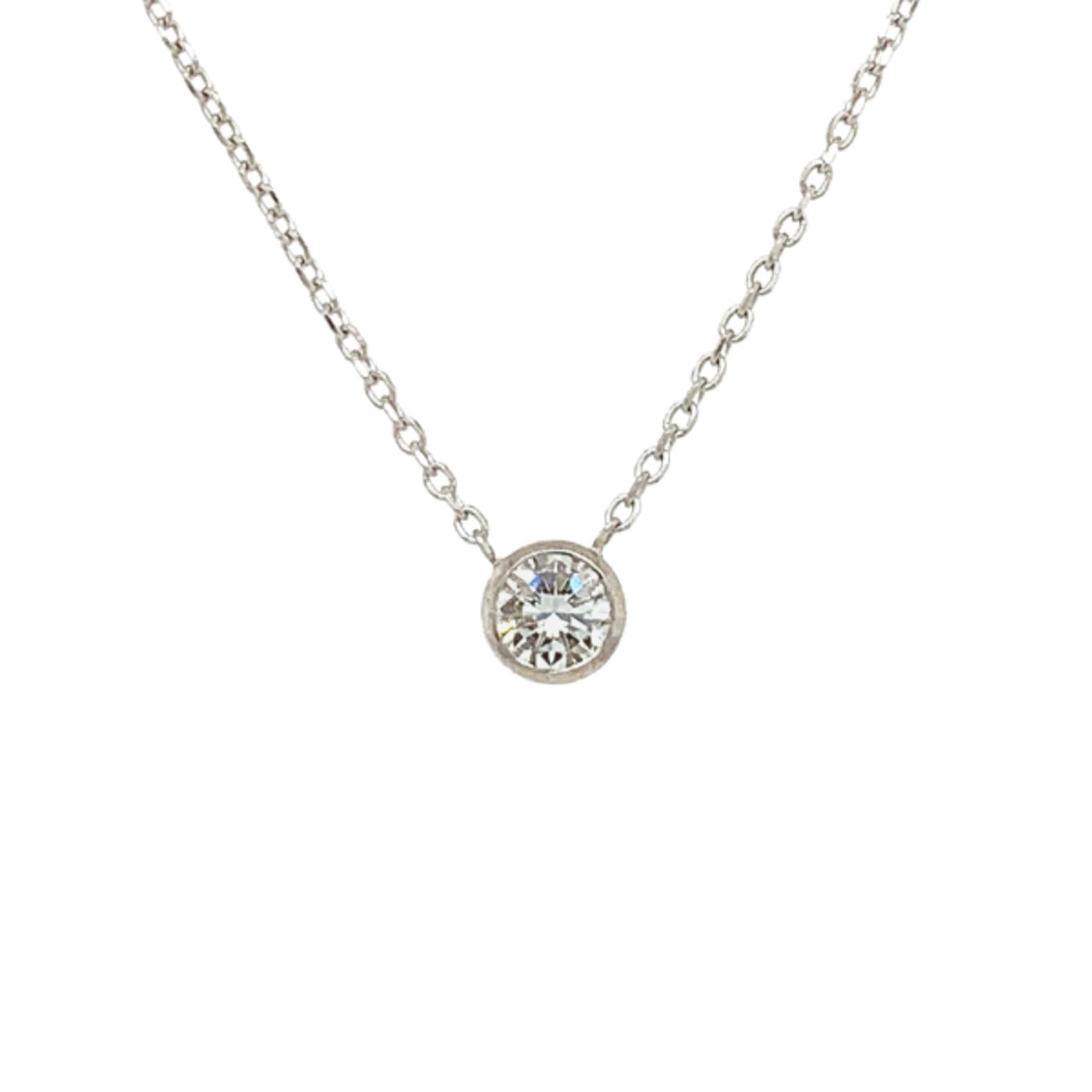 On The Edge Guiding Light  - .33 Diamond Necklace 14ktw - On The Edge