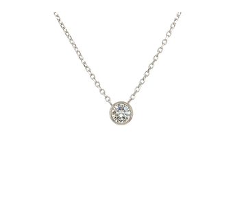 Guiding Light  - .33 Diamond Necklace 14ktw - On The Edge