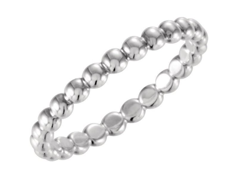 This Is Life Bubble Stackable 2.5mm Sterling Silver Ring