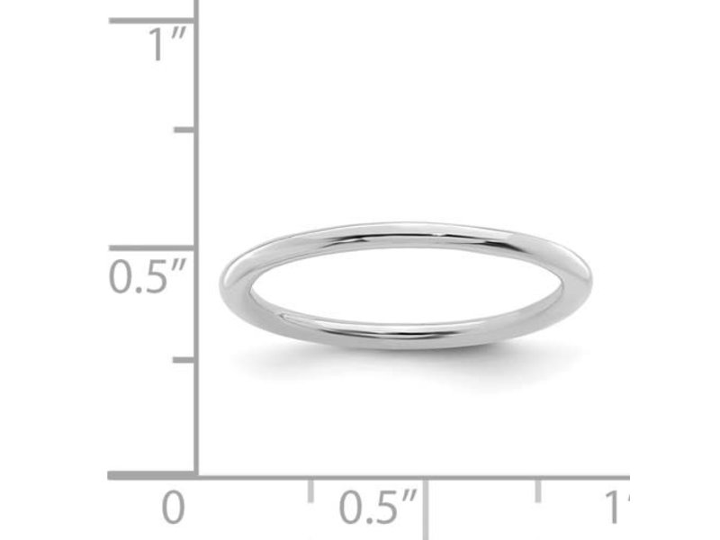 This Is Life Polished Stackable 1.5mm Sterling Silver Ring