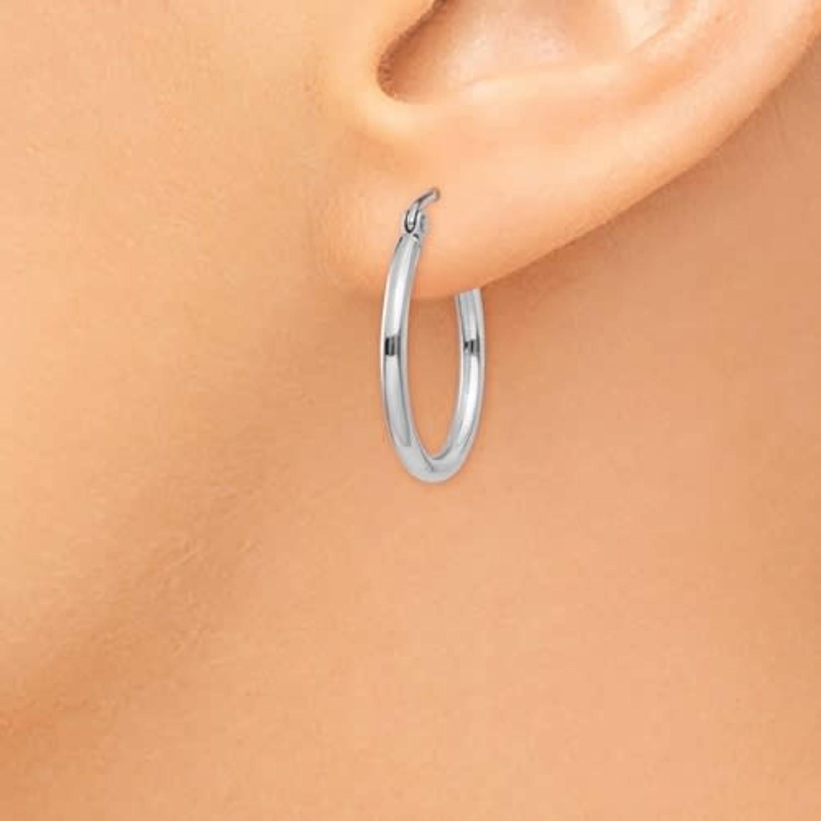 This Is Life Classic 2mm Hoop Earrings - 14ktw