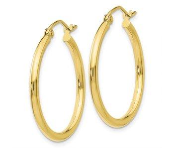 2mm Gold Hoop Earrings