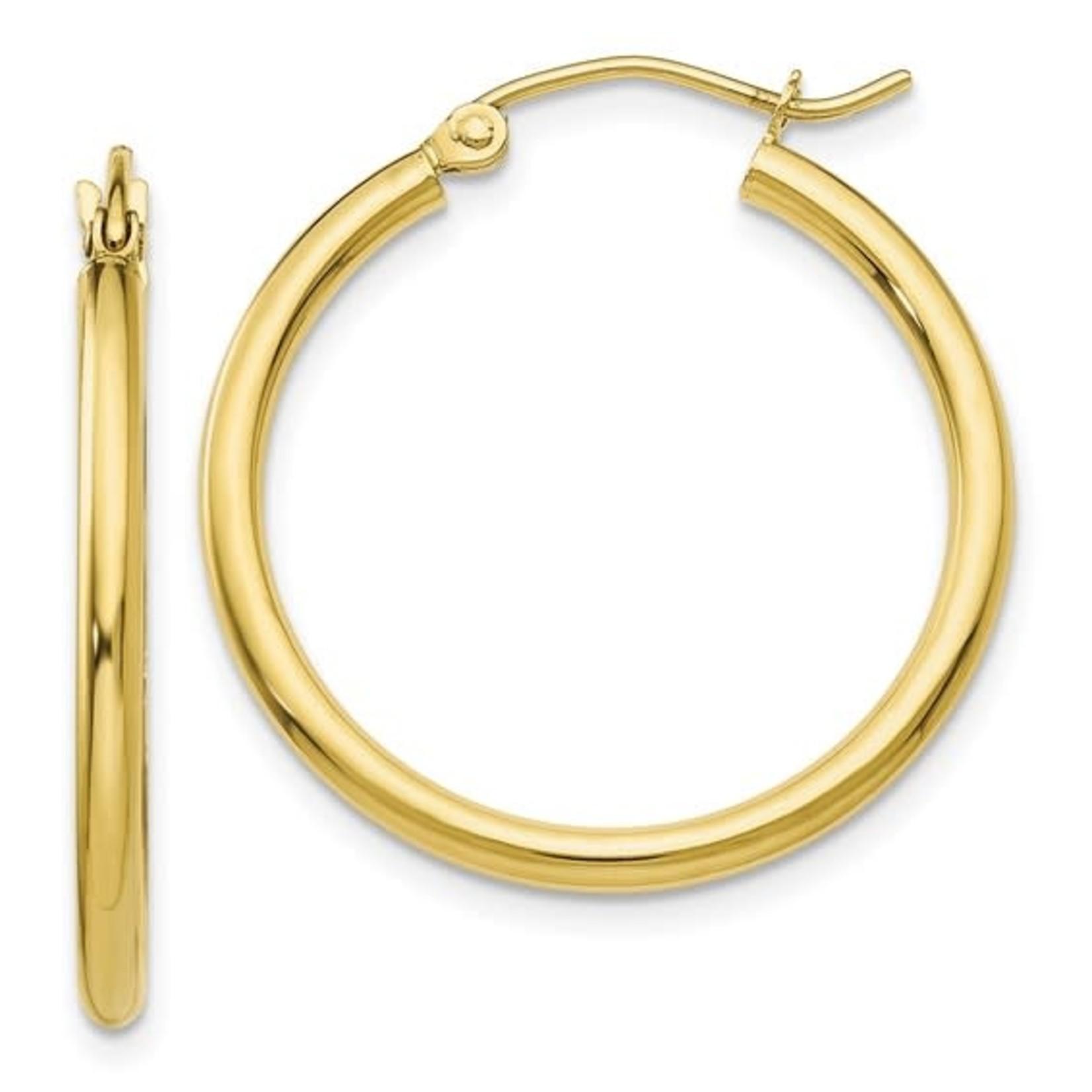 This Is Life 2mm Gold Hoop Earrings