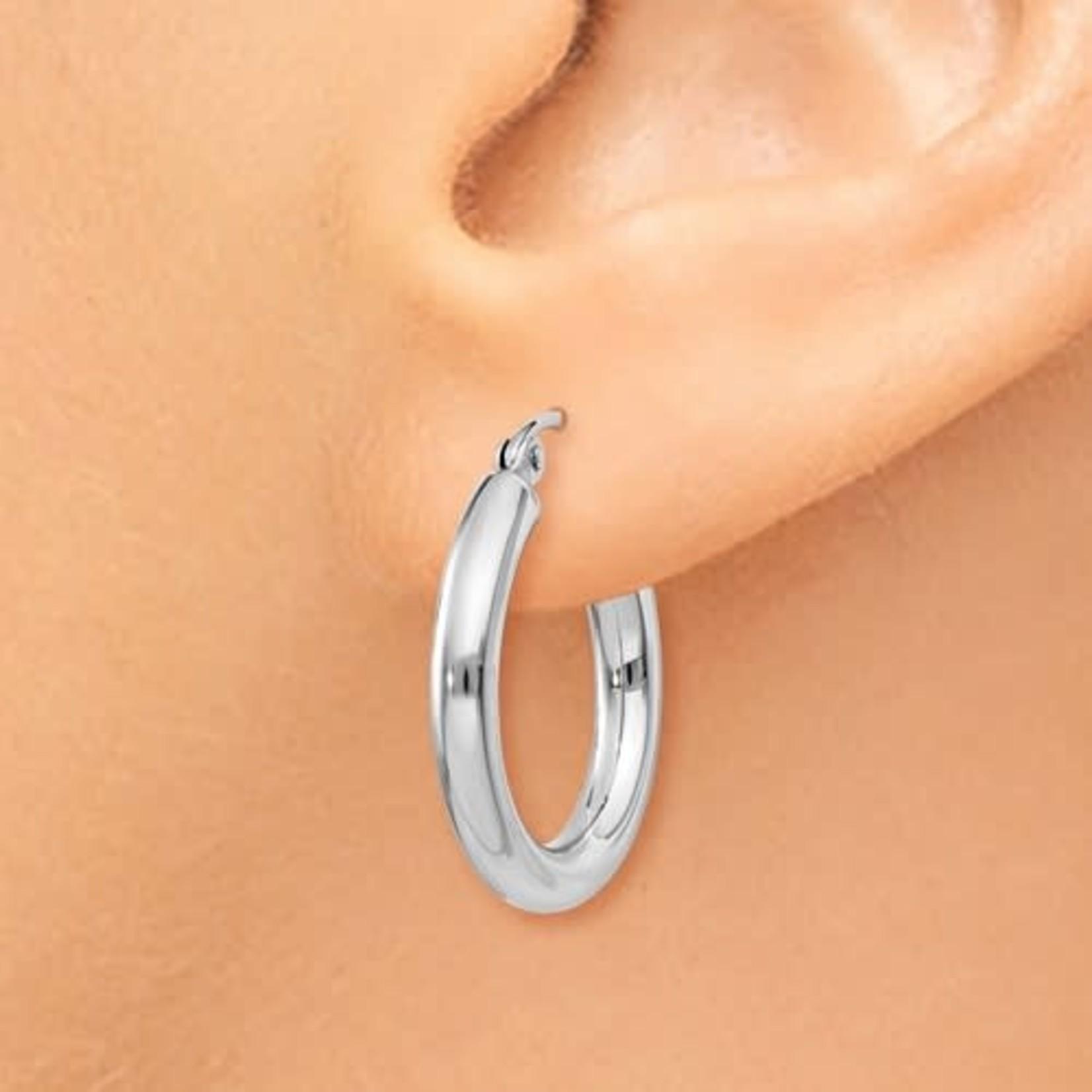 This Is Life Classic 3mm Hoop Earrings - 14ktw
