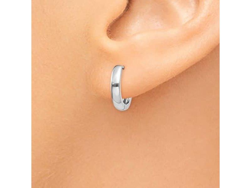 This Is Life Huggie Hinged Hoop Earrings - 14ktw
