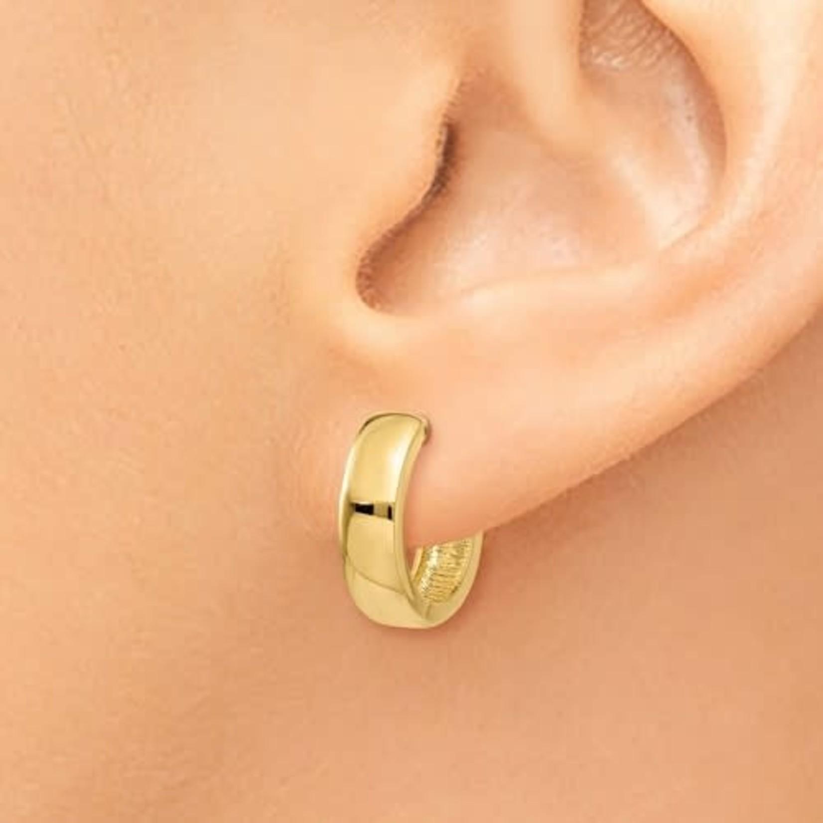 This Is Life Huggie Hinged Hoop Earrings - 14kty