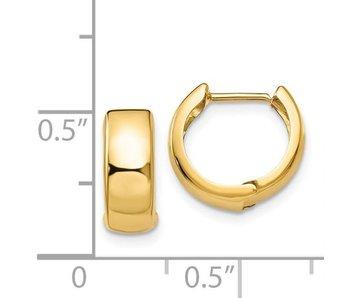 Huggie Hinged Hoop Earrings - 14kty